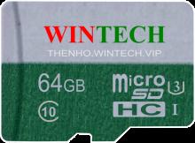 Thẻ nhớ SD WinTech 64GB Class 10